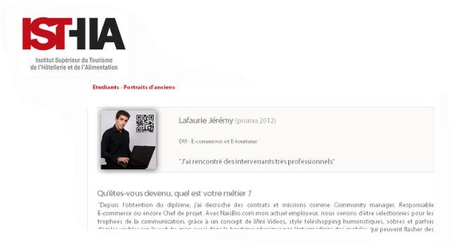 isthia apres la formation du e-commerce foix formation debouche experience jeremy lafaurie